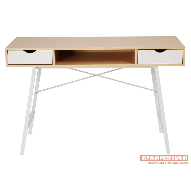 Письменный стол  WD-04 Бежевый, ЛДСП / Белый, металл (фото 2)