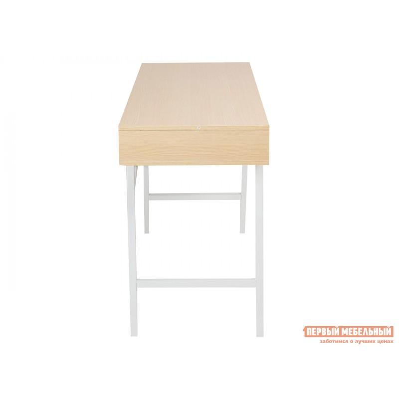 Письменный стол  WD-04 Бежевый, ЛДСП / Белый, металл (фото 3)