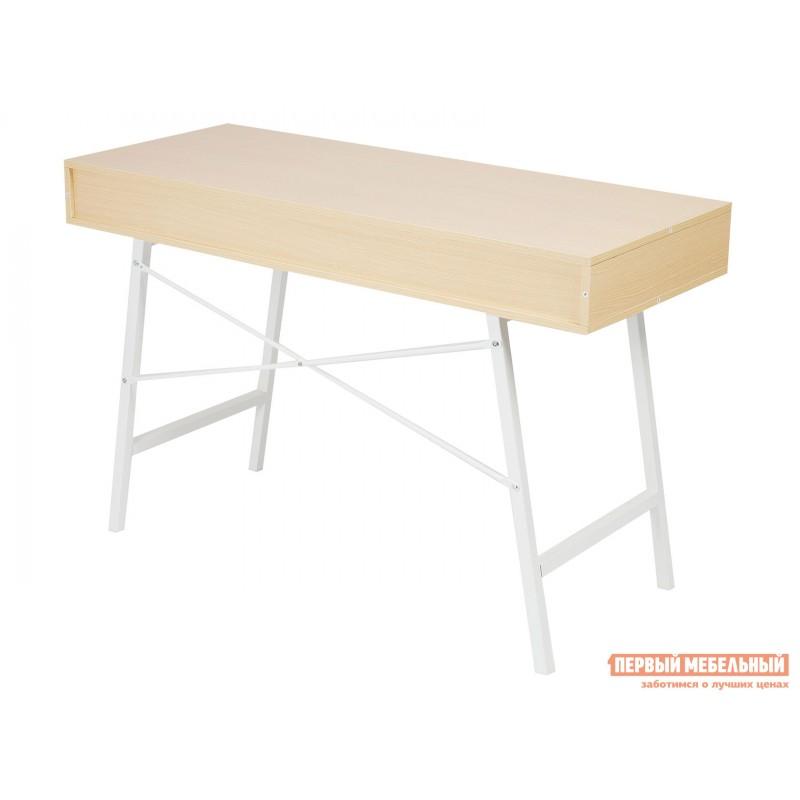 Письменный стол  WD-04 Бежевый, ЛДСП / Белый, металл (фото 4)