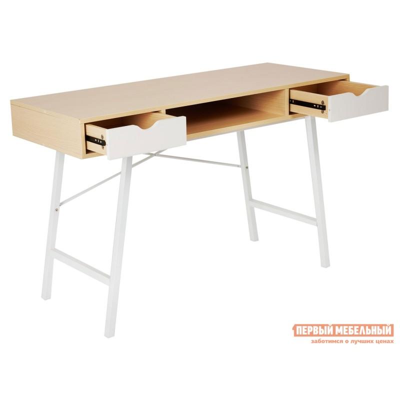 Письменный стол  WD-04 Бежевый, ЛДСП / Белый, металл (фото 5)