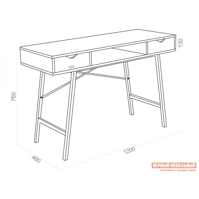 Письменный стол  WD-04 Бежевый, ЛДСП / Белый, металл (фото 6)