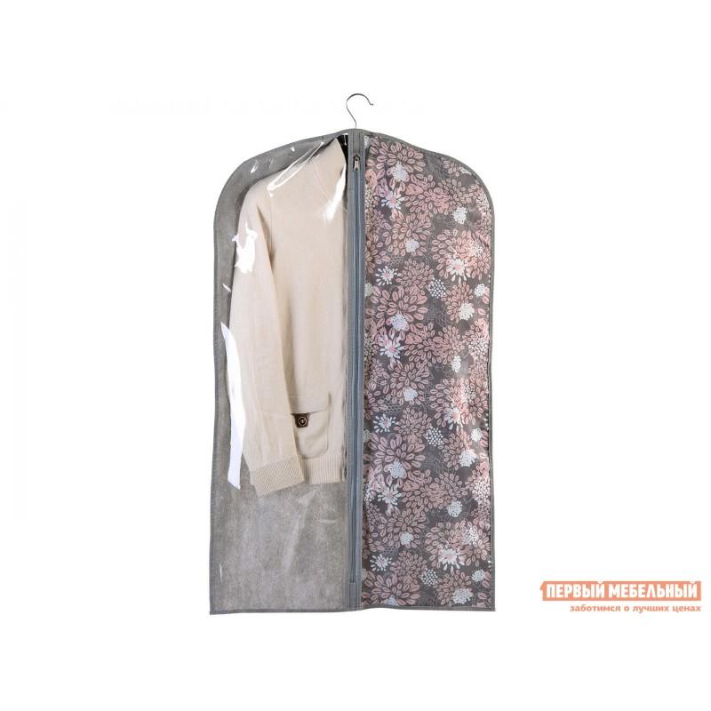 Кофр  Чехол для одежды малый 60х100см Серебро, спанбонд