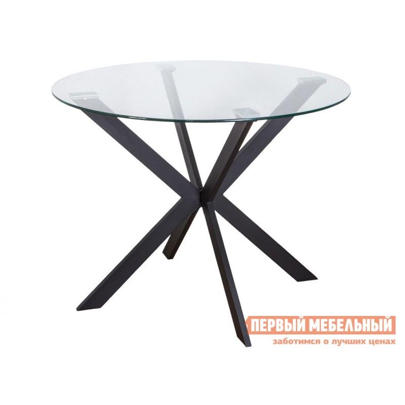 Кухонный стол  Стол DALLAS, 100*75 Черный, металл / Стекло