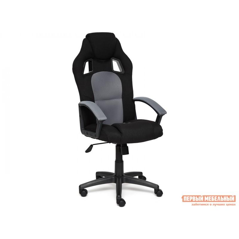 Игровое кресло  Driver Иск. кожа серая 2 TONE / Ткань черная 11