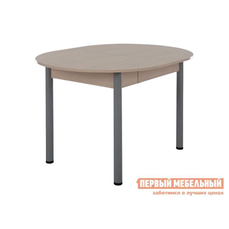 Кухонный стол  Квартет Дуб млечный / Серый, металл