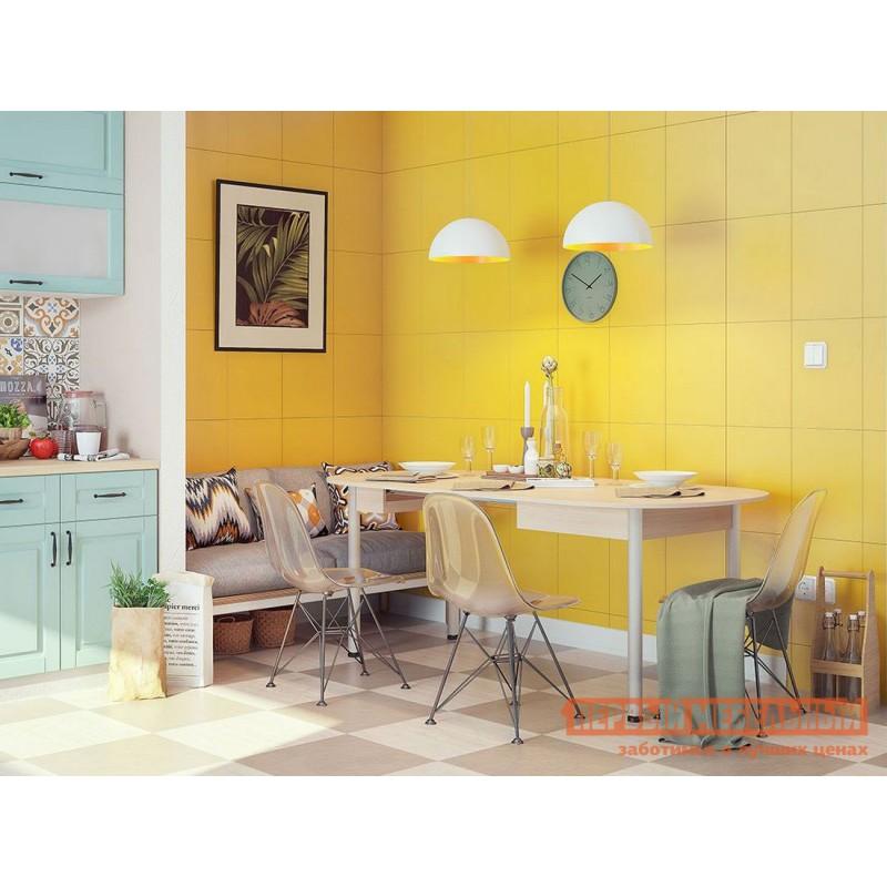Кухонный стол  Квартет Дуб млечный / Серый, металл (фото 2)