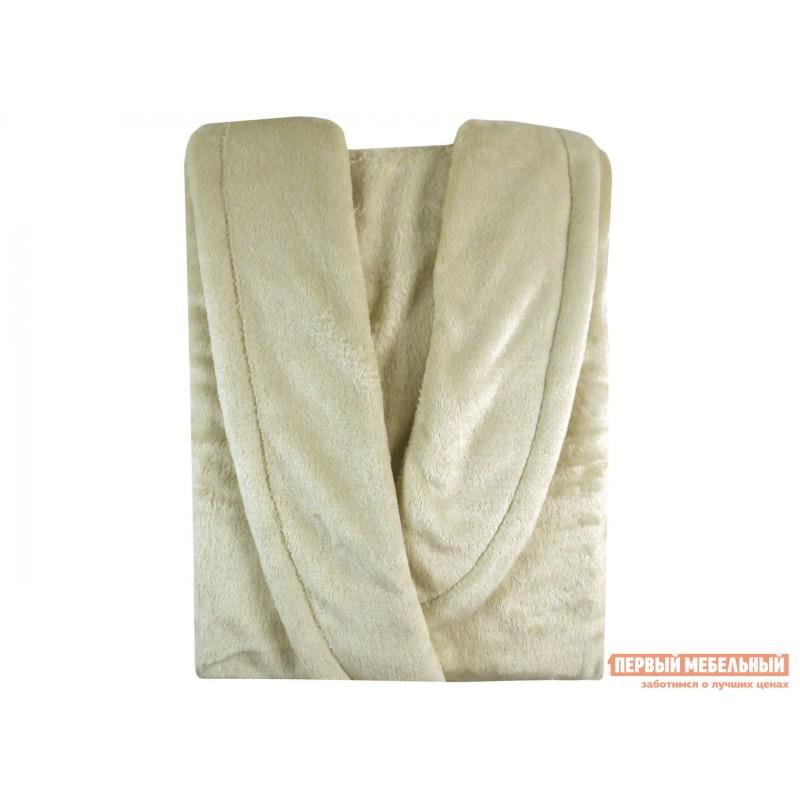 Халат  Халат из микрофибры женский кремовый Бельвита Кремовый, микрофибра, 44-46 (фото 2)
