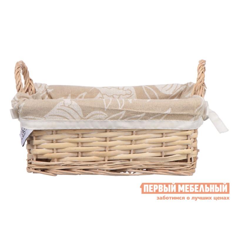 Корзина для хранения  Пальмовый лист Ивовая лоза / Пальмовый лист, ткань, S