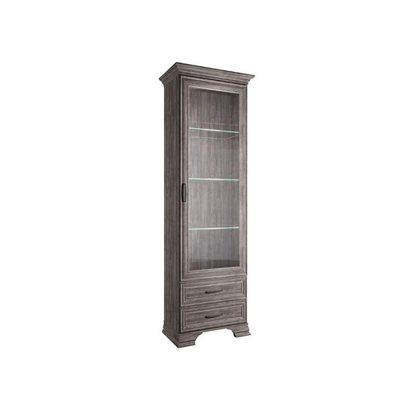 Шкаф-витрина  Шкаф-витрина Тиффани Орех Элия темный