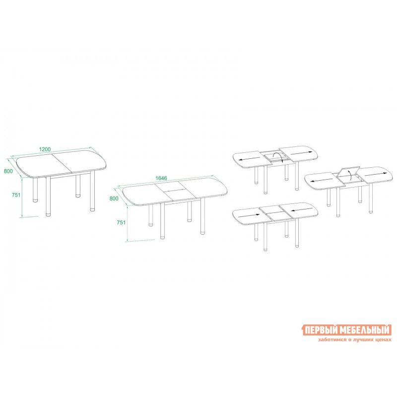 Кухонный стол  СО-3м Беленый дуб (фото 4)