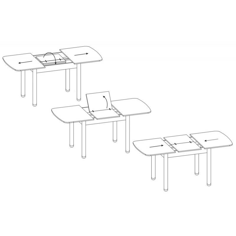 Кухонный стол  СО-3м Беленый дуб (фото 5)