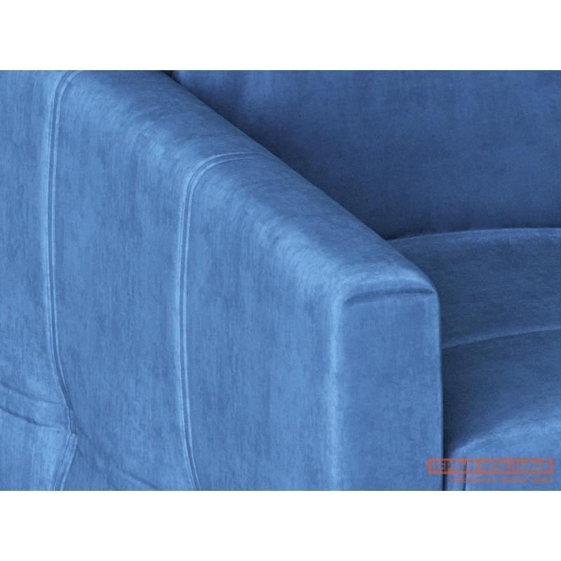 Угловой диван  Диван Неро с оттоманкой / Диван Неро с оттоманкой Люкс Голубой, велюр, 160х200 см, Независимый пружинный блок (фото 5)