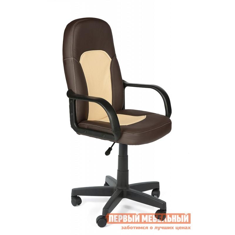 Кресло руководителя  Parma Иск. кожа коричневый / бежевый