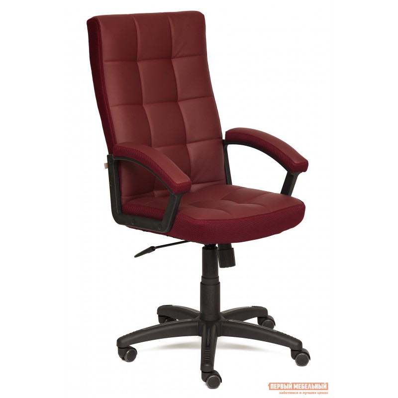 Офисное кресло  Trendy New Кож/зам/ткань, бордо / бордо, 36-7/13
