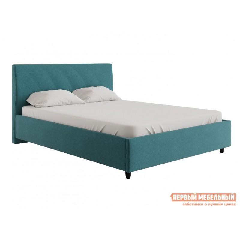 Двуспальная кровать  Эльба ПМ Бирюзовый, рогожка, 1800 Х 2000 мм