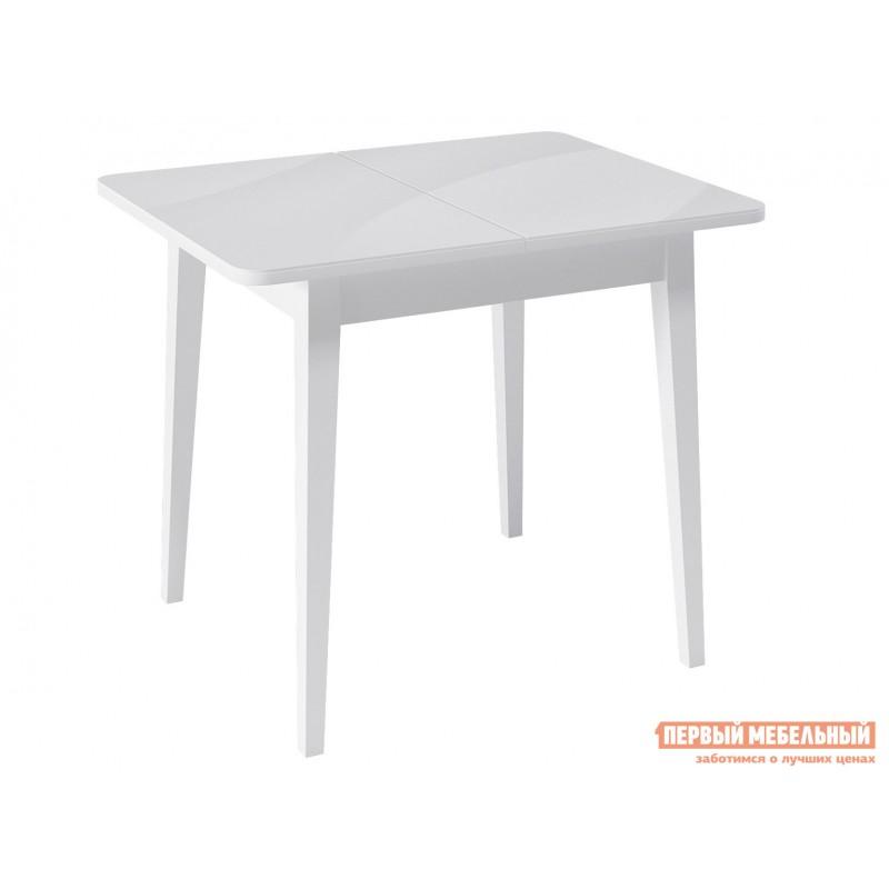 Кухонный стол  Стол Kenner 900М Белый / Белый сатин, стекло