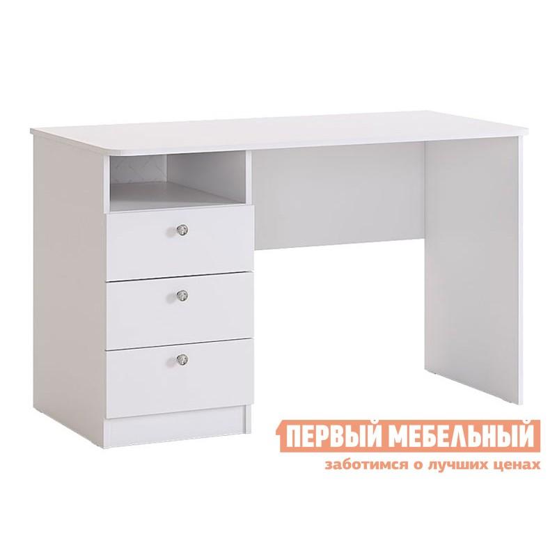Компьютерный стол детский  Гламур Стол Белый / Белый глянец