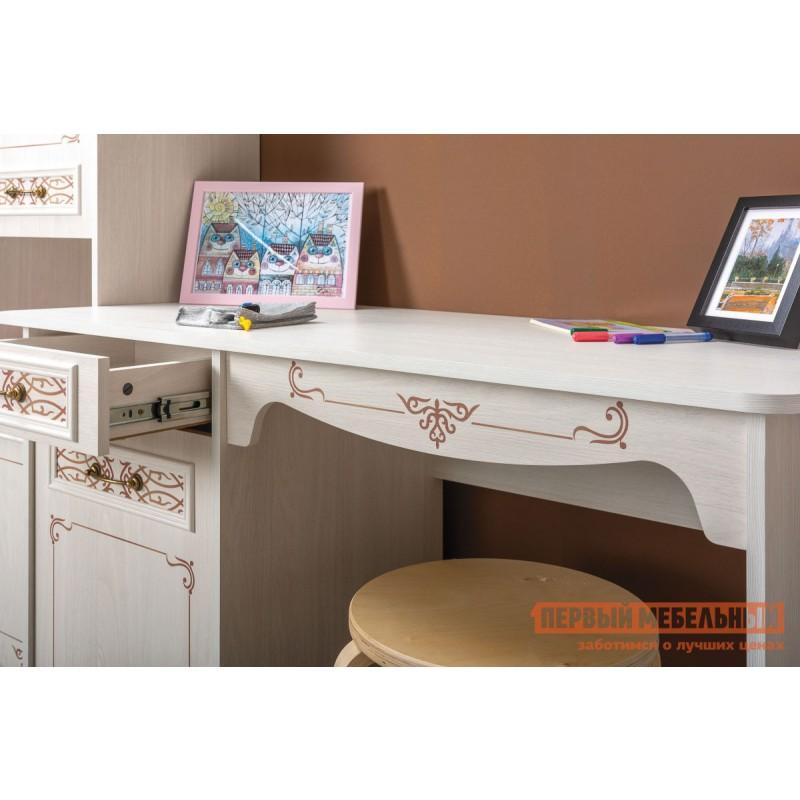 Компьютерный стол детский  Стол письменный Флоренция 12.24 Ясень Анкор светлый (фото 4)