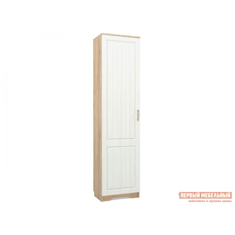Распашной шкаф  Шкаф 1 дв Оливия Лайт НМ 014.71 Дуб сонома / Белое дерево, Левый, Без дополнительных полок