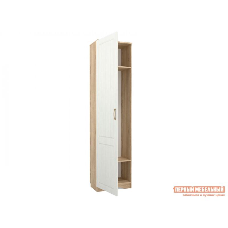 Распашной шкаф  Шкаф 1 дв Оливия Лайт НМ 014.71 Дуб сонома / Белое дерево, Левый, Без дополнительных полок (фото 2)