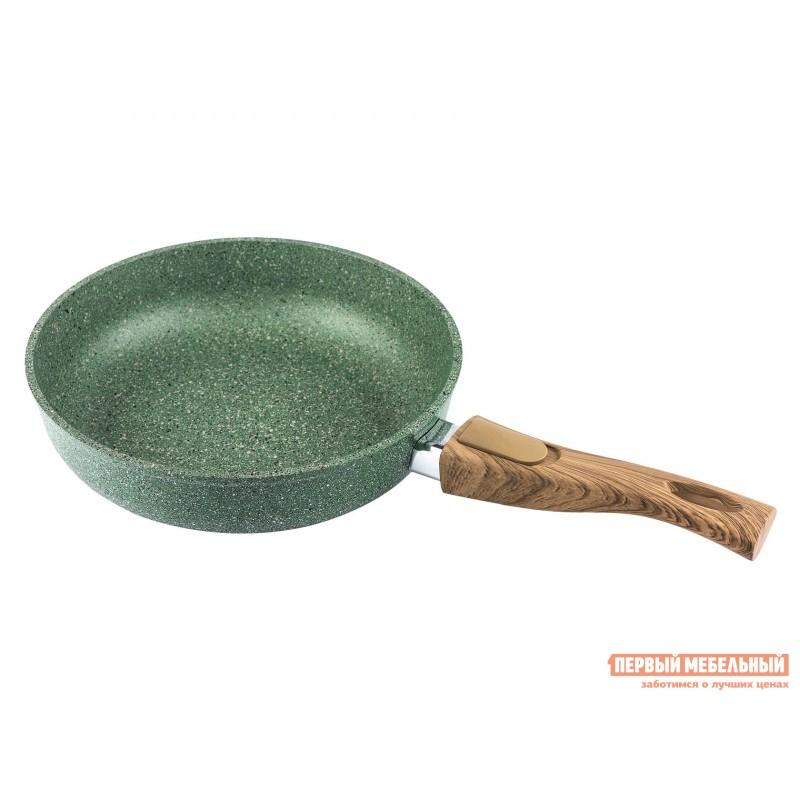 Сковорода  Сковорода Casta Megapolis NATURE, глубокая,съёмная ручка, 28 см, литой алюминий Зеленый мрамор