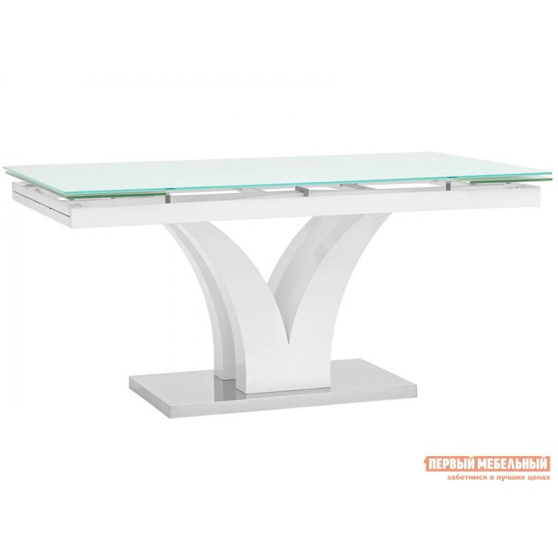 Кухонный стол  Стол обеденный Верона, раскладной DT-43-160-HGW/HGBG DUAL Белый глянцевый