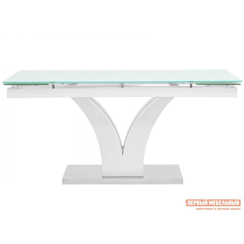 Кухонный стол  Стол обеденный Верона, раскладной DT-43-160-HGW/HGBG DUAL Белый глянцевый (фото 2)