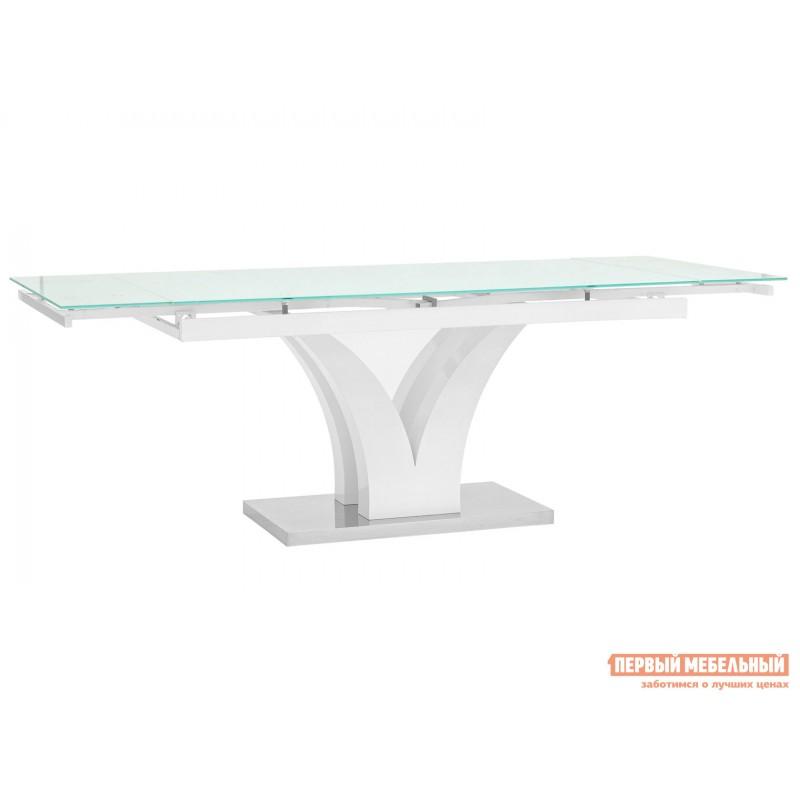 Кухонный стол  Стол обеденный Верона, раскладной DT-43-160-HGW/HGBG DUAL Белый глянцевый (фото 3)