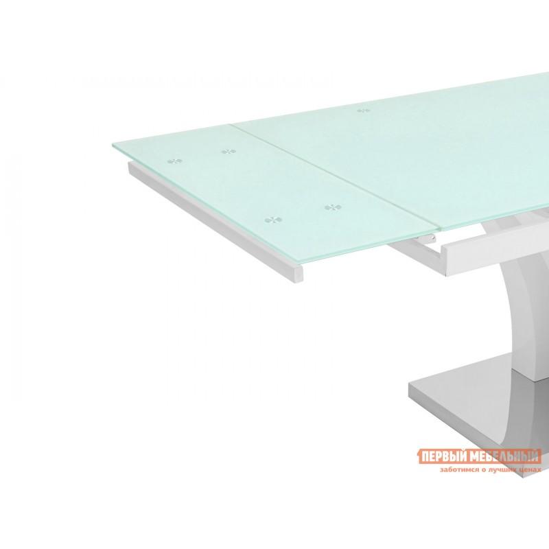 Кухонный стол  Стол обеденный Верона, раскладной DT-43-160-HGW/HGBG DUAL Белый глянцевый (фото 4)
