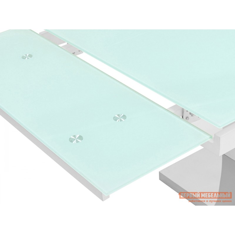 Кухонный стол  Стол обеденный Верона, раскладной DT-43-160-HGW/HGBG DUAL Белый глянцевый (фото 5)