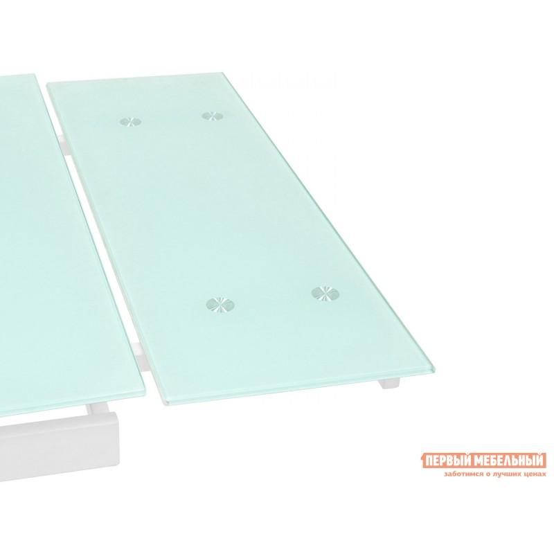 Кухонный стол  Стол обеденный Верона, раскладной DT-43-160-HGW/HGBG DUAL Белый глянцевый (фото 6)