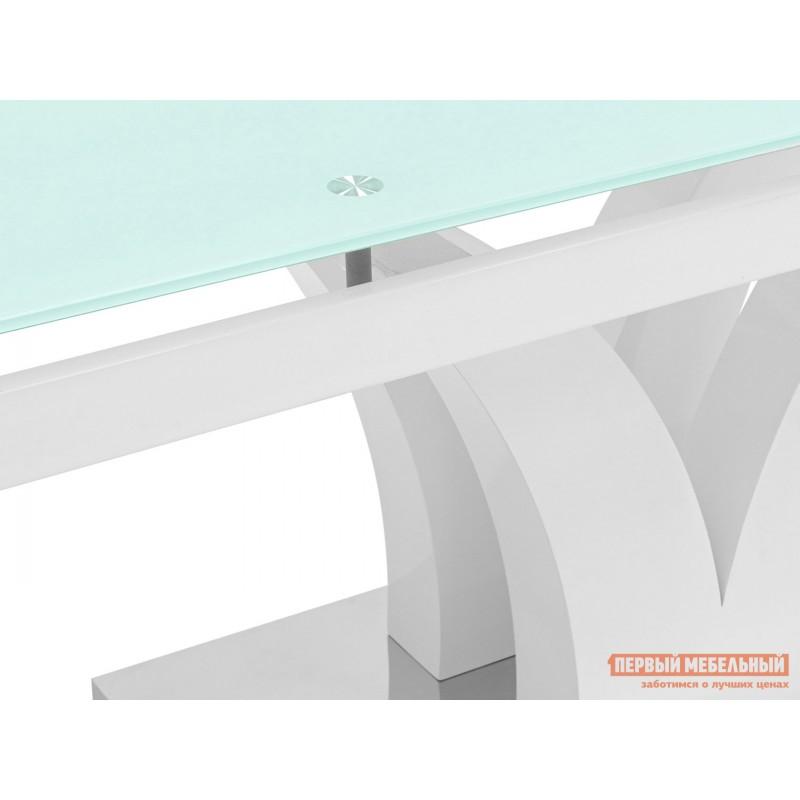 Кухонный стол  Стол обеденный Верона, раскладной DT-43-160-HGW/HGBG DUAL Белый глянцевый (фото 7)
