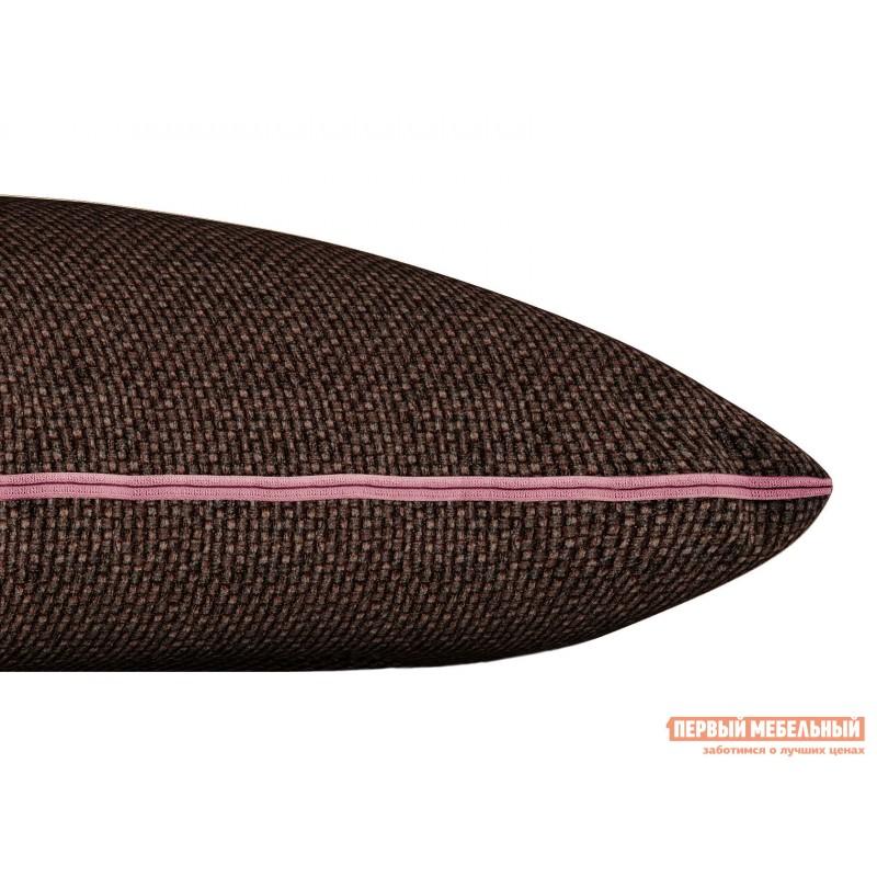 Декоративная подушка  Подушка ШН(391-10), Размер 45х45 Темно-коричневый, рогожка (фото 2)
