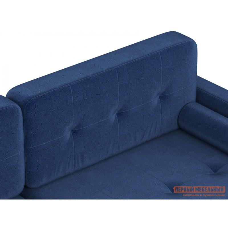 Прямой диван  Диван Буено Люкс Синий, велюр (фото 4)