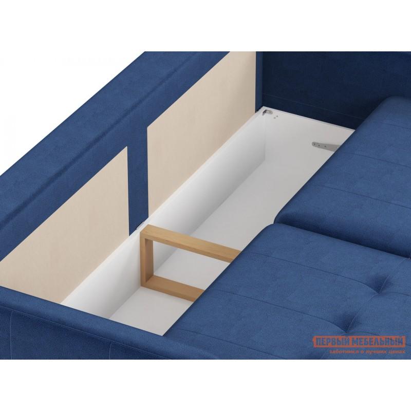 Прямой диван  Диван Буено Люкс Синий, велюр (фото 5)