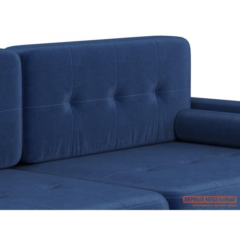 Прямой диван  Диван Буено Люкс Синий, велюр (фото 6)