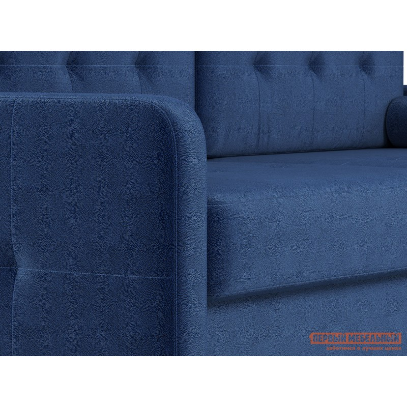 Прямой диван  Диван Буено Люкс Синий, велюр (фото 7)