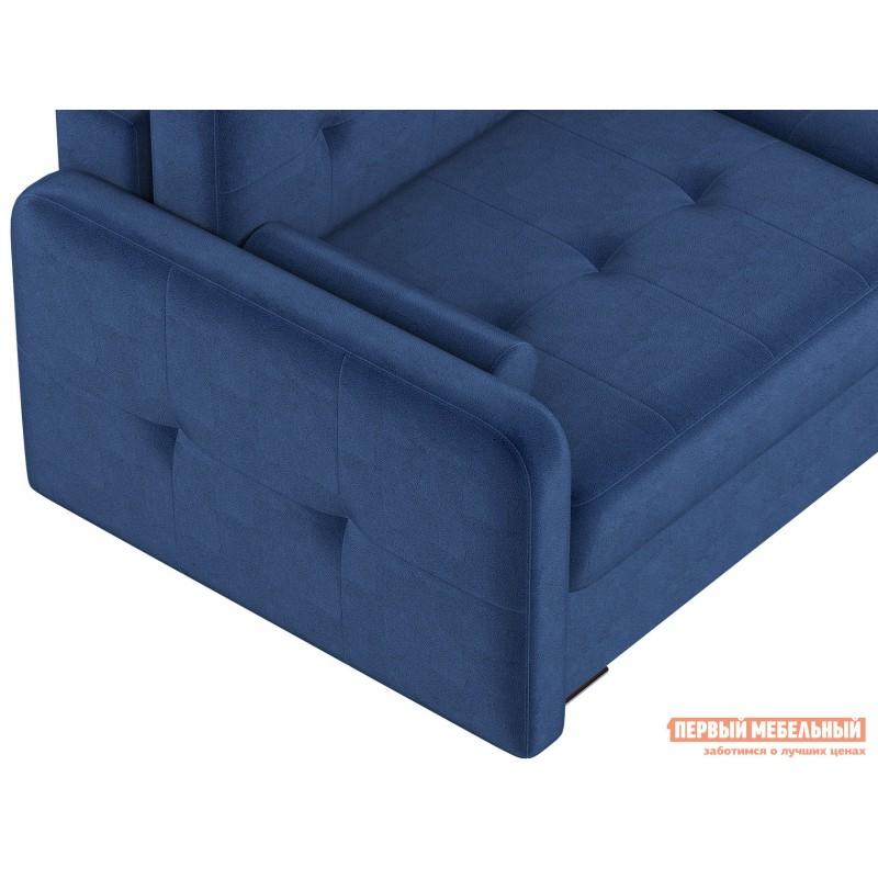 Прямой диван  Диван Буено Люкс Синий, велюр (фото 8)