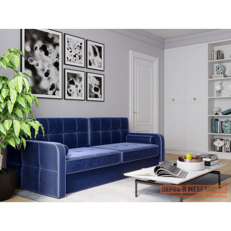 Прямой диван  Диван Буено Люкс Синий, велюр (фото 9)
