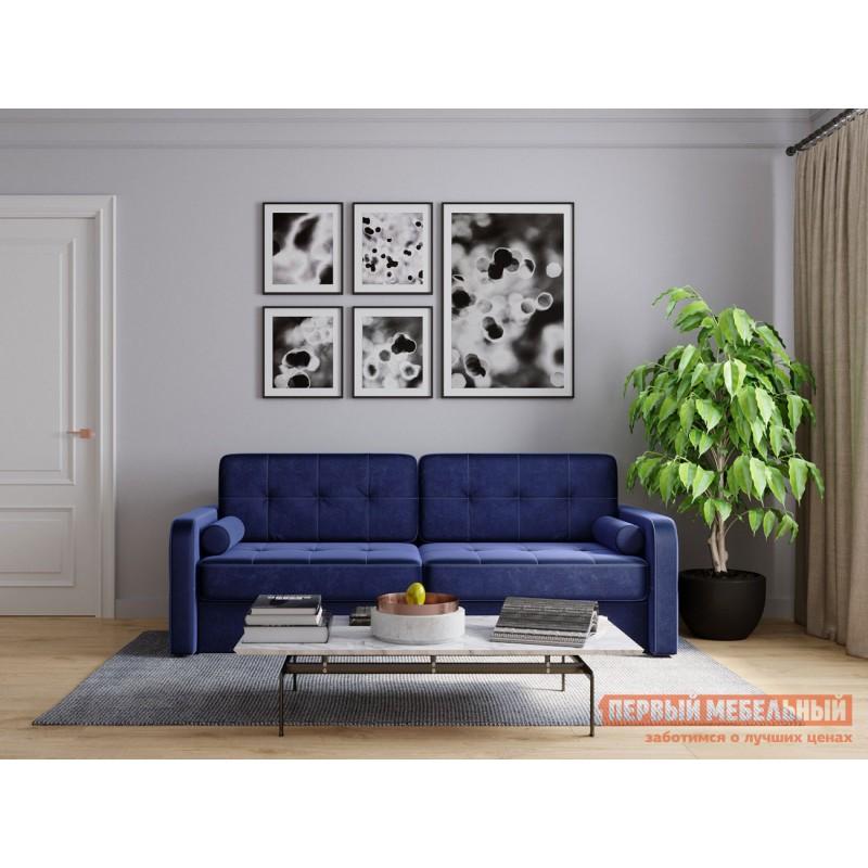Прямой диван  Диван Буено Люкс Синий, велюр (фото 10)