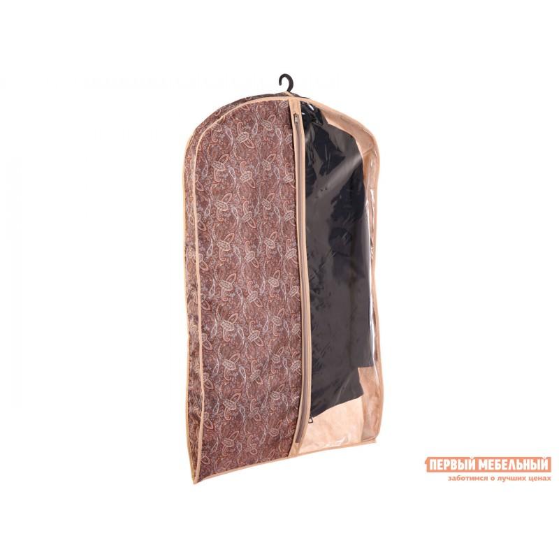 Кофр  Чехол объемный для одежды малый 60х100х10см Русский Шик, спанбонд