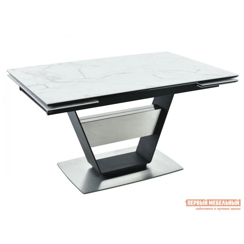 Кухонный стол  Мальта Calacata vagli / Черный, металл