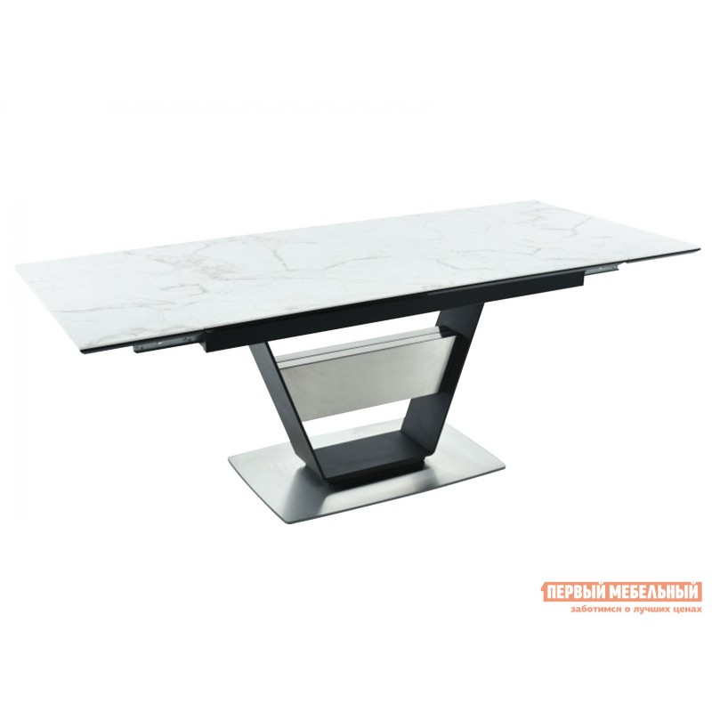 Кухонный стол  Мальта Calacata vagli / Черный, металл (фото 3)