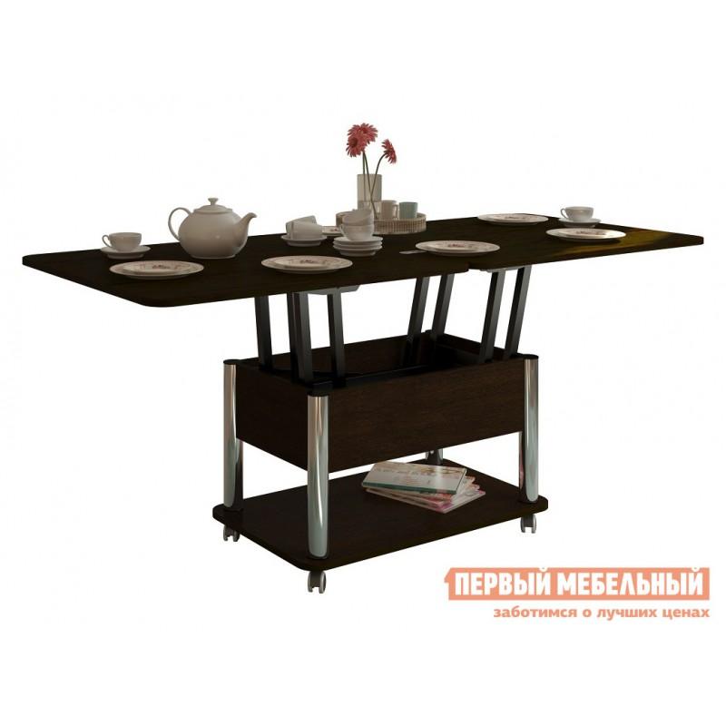 Кухонный стол  Стол-трансформер Гросс Хром / Венге темный, Венге темный (фото 2)