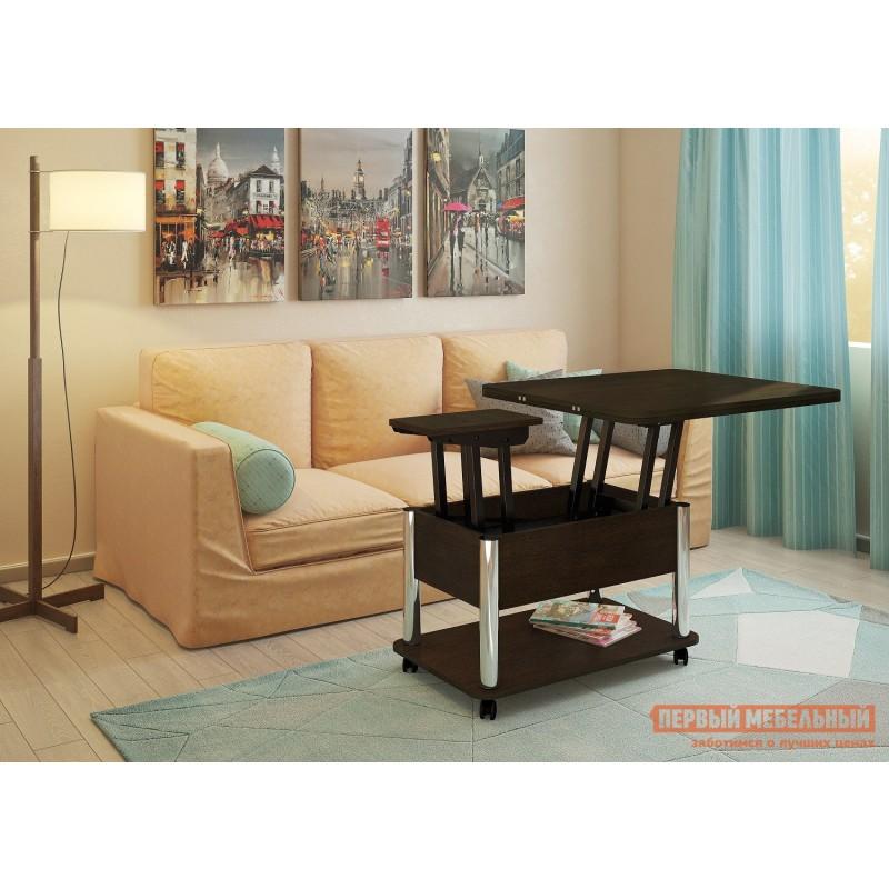 Кухонный стол  Стол-трансформер Гросс Хром / Венге темный, Венге темный (фото 4)