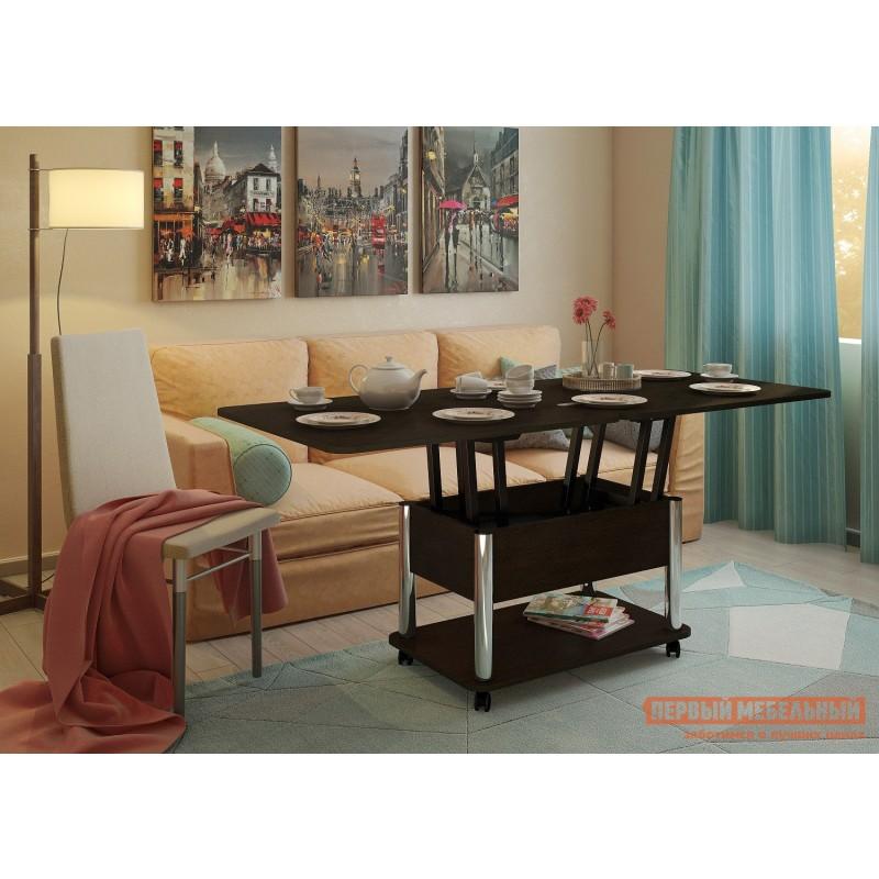 Кухонный стол  Стол-трансформер Гросс Хром / Венге темный, Венге темный (фото 5)