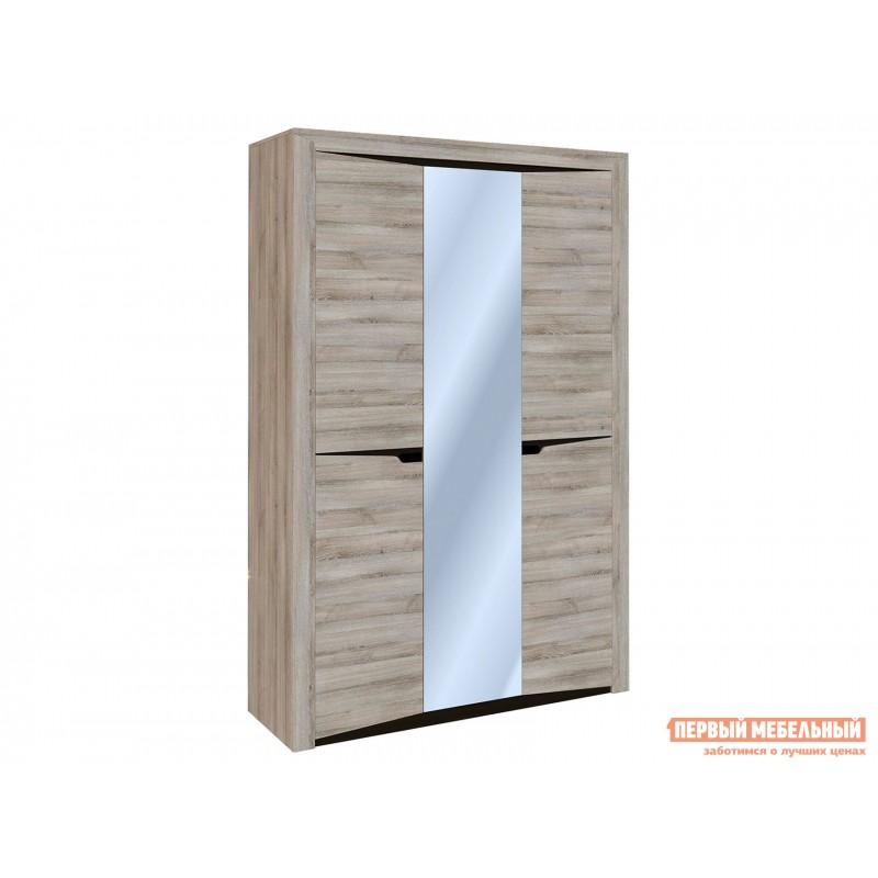 Распашной шкаф  Шкаф 3-х дверный Гарда Ясень Таормино, С узкими полками, 2300 мм