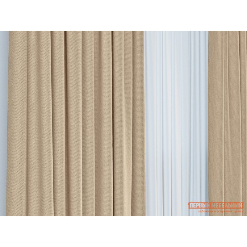 Шторы  Портьера ШП(135), Размер 200х270 Персик, блэкаут (фото 3)