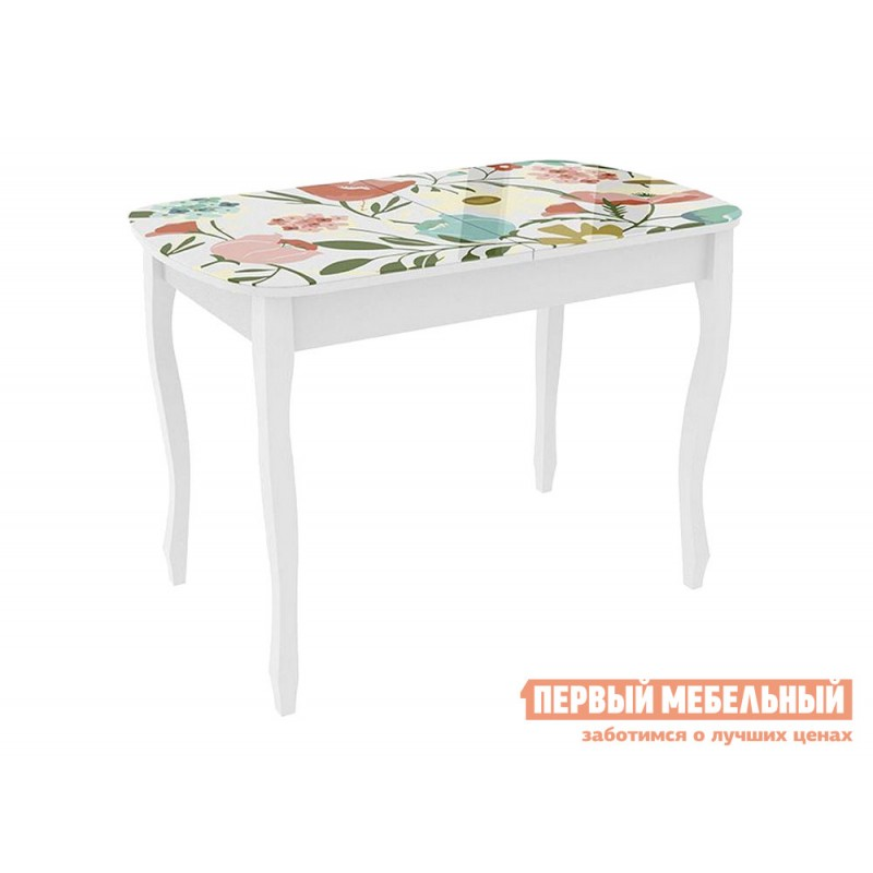 Кухонный стол  Экстра 2 Белый / Весна