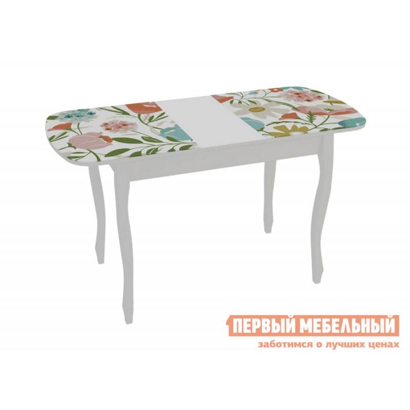 Кухонный стол  Экстра 2 Белый / Весна (фото 2)